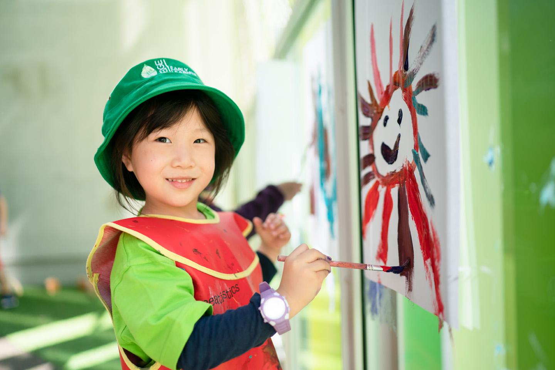 South Brisbane Child painting