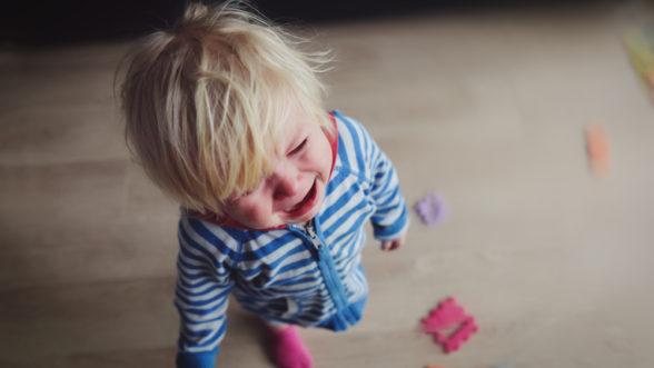 toddler boy crying